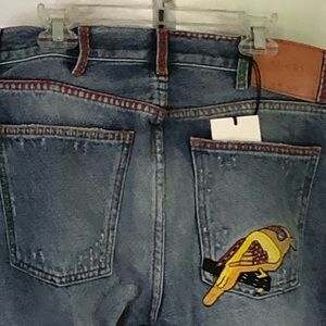 Gucci Embroidered Jeans 31 x 32 NWT